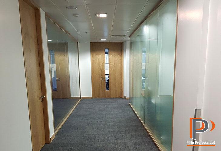 Glazed partitions for offices in London