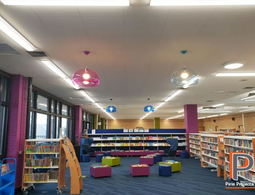 Suspended Ceiling & Partition Walls St. Albans Library