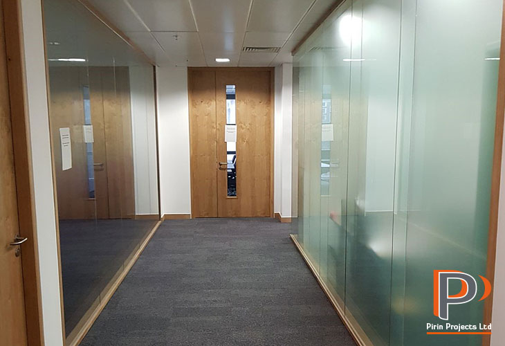 Glazed office partitions London