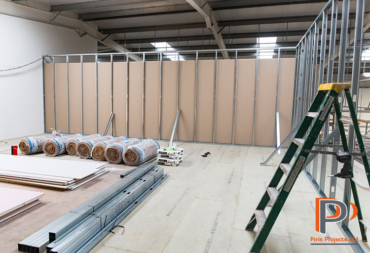 Metal stud partition installation