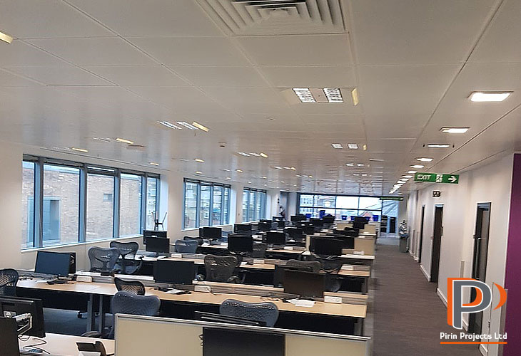 Office ceiling installation central London