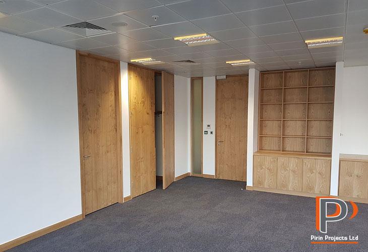 Office interior installations in London