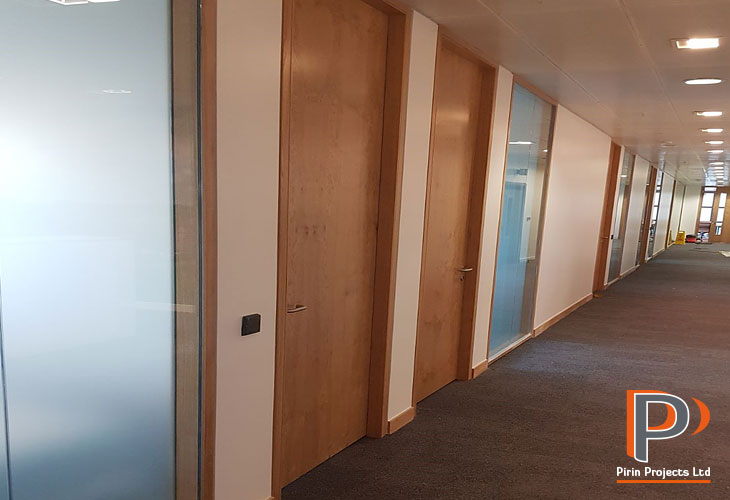Glazed and metal stud partition walls London