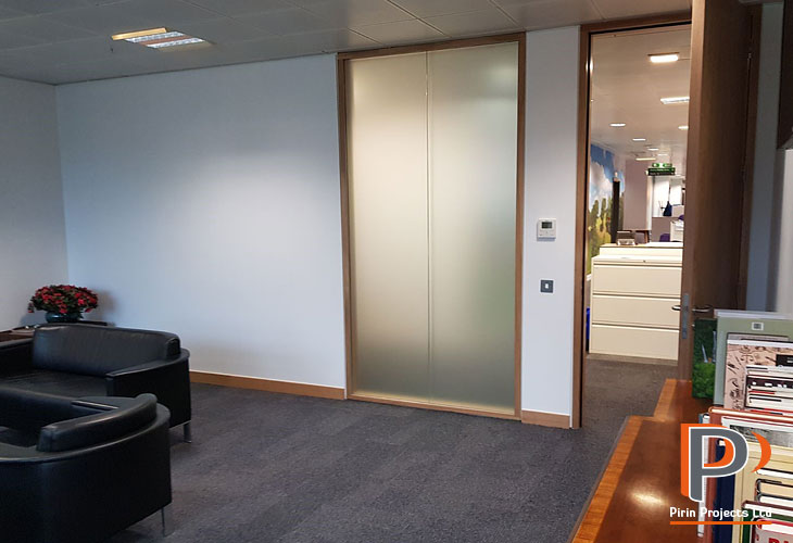Office partition installation in London