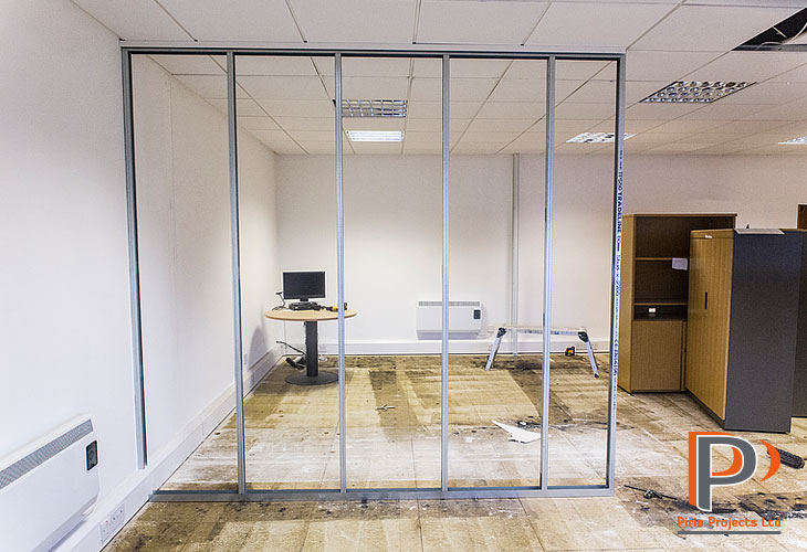 Metal stud partition wall installation